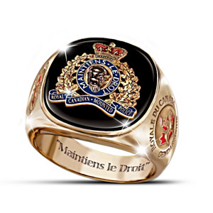 Royal Canadian Mounted Police Engraved Men's Ring