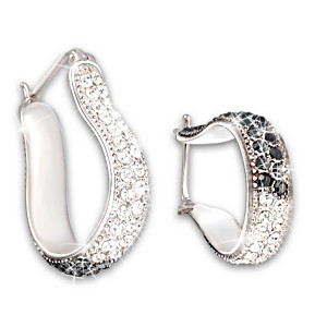 Reversible Sterling Silver And Crystal Earrings