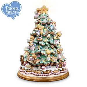 Precious Moments Angels Tabletop Christmas Tree