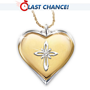 """Blessed Granddaughter"" Love And Faith Diamond Pendant"