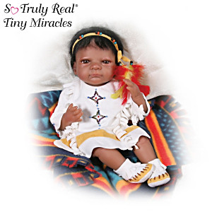 "Native American-Style ""Baby Swift Deer"" Baby Doll"