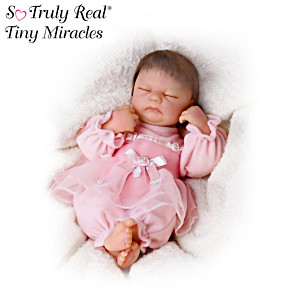 Lifelike Sleeping 25-cm Vinyl Doll