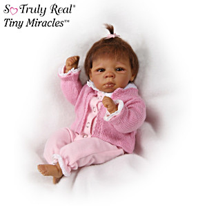 """Tiny Miracles """"Kendall"""" Lifelike African American Doll"""