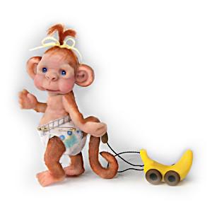 """Lydia Marlene """"Monkey Toddles"""" Baby Monkey Figurine"""