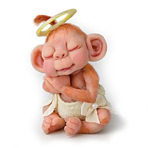 """Lydia Marlene """"Monkey Lovables"""" Baby Monkey Figurine"""