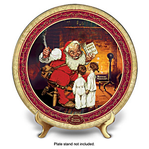 Norman Rockwell's Christmas Memories 2012 Collector Plate