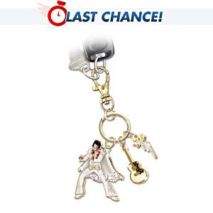 Elvis Presley Swarovski Crystal 24K Gold-Plated Key Chain