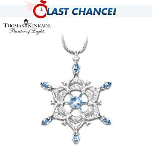 """Thomas Kinkade """"Sparkling Snowflake"""" Crystal Pendant"""