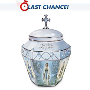 """""""Hail Mary"""" Porcelain Prayer Music Box"""