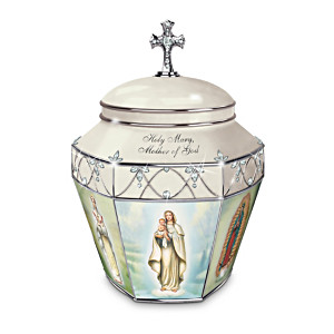 """Holy Mary, Mother Of God"" Porcelain Musical Prayer Box"