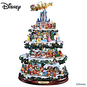 The Disney 50-Character Illuminated Tabletop Christmas Tree