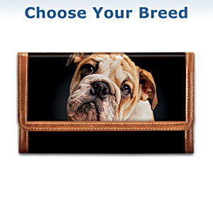 The Dog Art Leather Wallet For Dog Lovers
