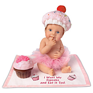 """I Want My Cupcake And Eat It Too"" Lifelike Baby Doll"