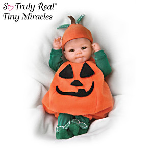 """Tiny Miracles """"Pun'kin"""" Halloween Realistic Baby Doll"""