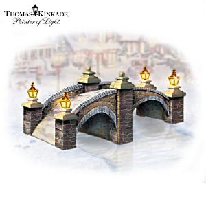 "Thomas Kinkade ""Cobblestone Brook Bridge"" With Lights"