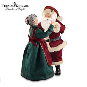 Thomas Kinkade Dancing Santa Musical Figurine