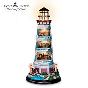 "Thomas Kinkade ""Tower of Light"" Lighthouse Sculpture"