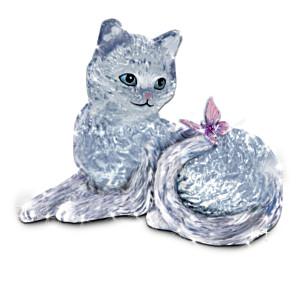 """""""Smitten Kitten"""" Crystal Figurine"""