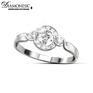 Love Comes Full Circle Diamonesk Women's Ring