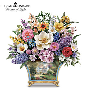 "Thomas Kinkade ""All American"" Sculpted Flower Arrangement"