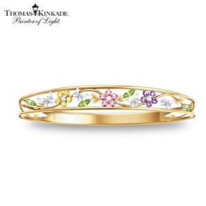 Thomas Kinkade Alzheimer's Support Floral Bracelet