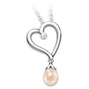 Diamond Necklace With 7 Interchangeable Cultured Pearls