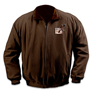 Ted Blaylock Eagle Art Reversible Fleece Jacket
