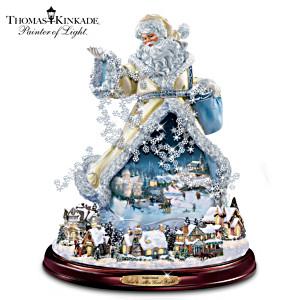 Thomas Kinkade Illuminated Rotating Musical Santa Claus