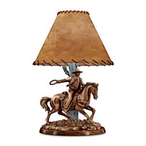 """""""American Legend"""" Sculptural John Wayne Table Lamp"""