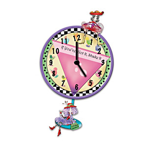 Dolly Mama's Animated Wall Clock