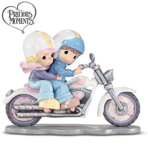 Precious Moments Two Hearts Two Wheels Biker Couple Figurine