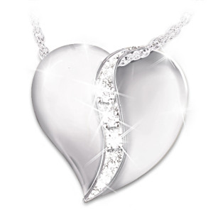 """Today, Tomorrow, Always"" Diamond Pendant For Daughter"