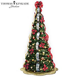 First-Ever Thomas Kinkade Pre-Lit Pull-Up Christmas Tree