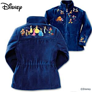 """""""Magic Of Disney"""" Fleece Jacket With 32 Characters"""