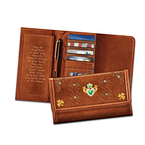 """""""May The Road Rise To Meet You"""" Irish Blessing Wallet"""