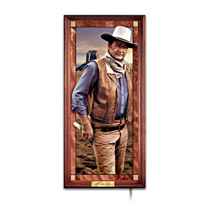 "John Wayne ""Hero Of The West"" Illuminated Panorama"