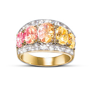 """Reflections Of Glamour"" 5-Stone Color-Changing Ring"