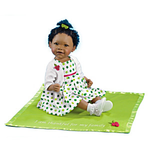 Musical African-American Baby Doll And Blanket
