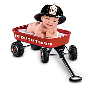 "Cheryl Hill ""Fireman In Training"" Miniature Baby Doll"