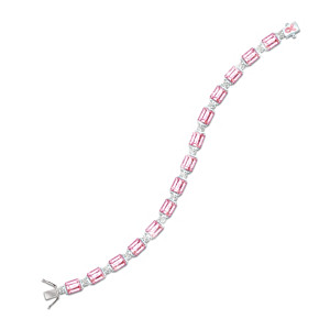 """Facets Of Hope"" Breast Cancer Awareness Crystal Bracelet"