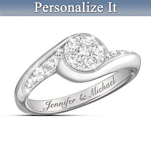 """Celebration of Love"" Personalized Diamond Ring"