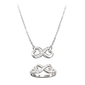 Sterling Silver Necklace And Ring Set For Daughter