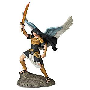 """Uriel, Angel Of Light"" Biblical Archangel Sculpture"