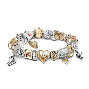 Spirit Of Canada Charm Bracelet With Swarovski Crystals
