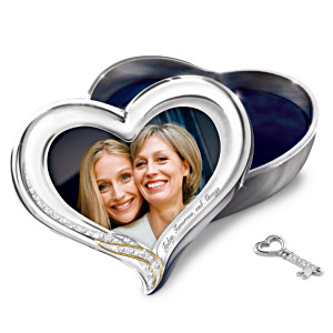 Recordable Silver-Plated Jewelry Box And Photo Frame