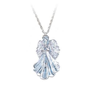 Inspiring Guardian Angel Crystal Pendant For Granddaughter
