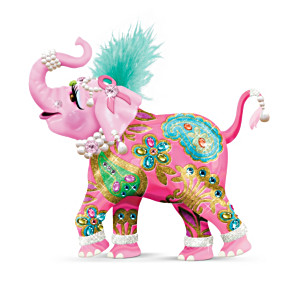"""Reach High For Hope"" Pink Elephant Figurine"