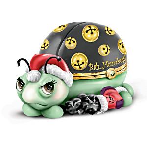 Limoges-Style Porcelain Ladybug Holiday Music Box
