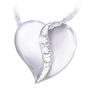 Sterling Silver And Diamond Pendant For Granddaughter