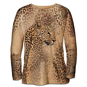 """""""In The Spot-Light"""" Leopard Print Art Shirt"""